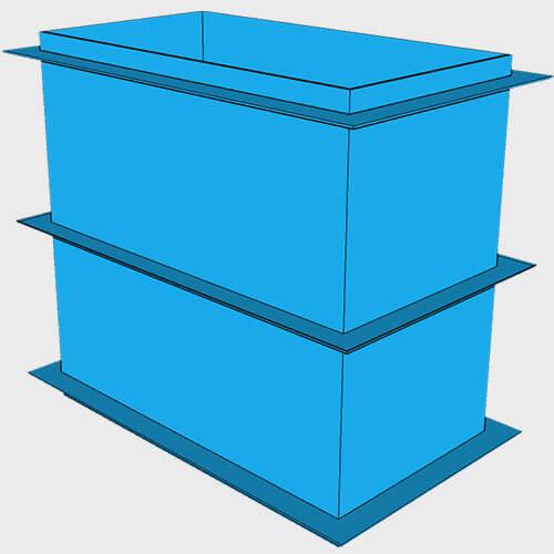 Купель для бани, 1,5 × 0,8 × 1,5 м.