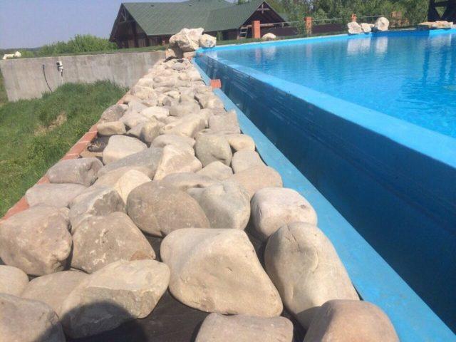 Переливной бассейн из полипропилена