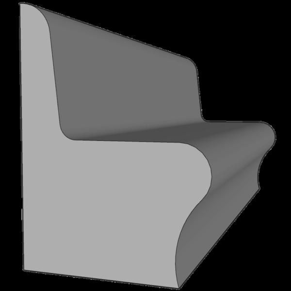 Лавка со спинкой 1 м.п.
