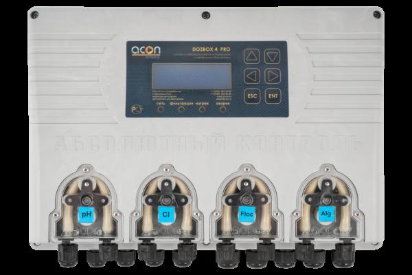 DOZBOX-PRO/4 - Универсальная станция хим. дозации и автоматического управления плавательным бассейном