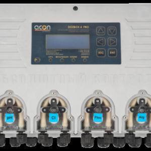 DOZBOX-PRO/4 — Универсальная станция хим. дозации и автоматического управления плавательным бассейном