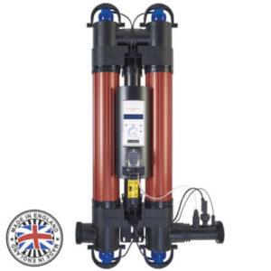 Ультрафиолетовая установка Elecro Quantum QP-130-EU с дозирующим насосом (2*55W, 28m3/h, 130m3)