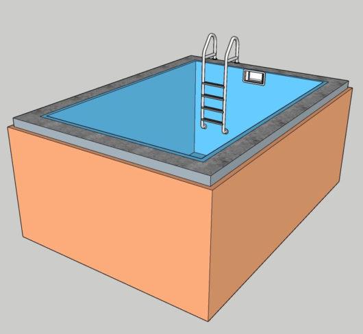 Пленочный бассейн под ключ 2x3 м