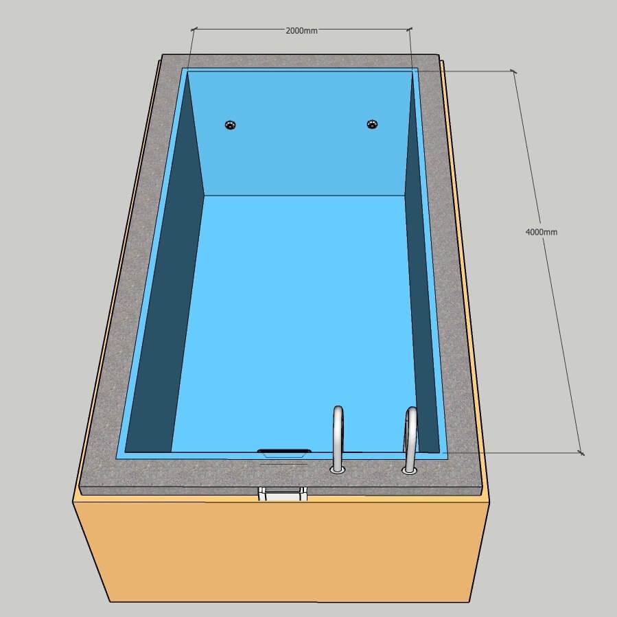 Пленочный бассейн под ключ 2х4 м