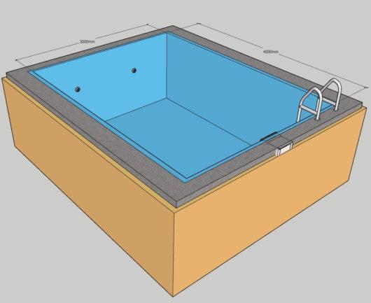 Пленочный бассейн под ключ 3х4 м