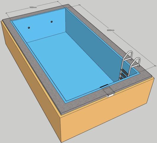 Пленочный бассейн под ключ 3х6 м