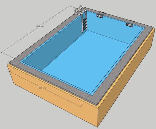 Пленочный бассейн под ключ 4х6 м