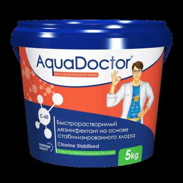 Аквадоктор C-60 шок хлор в гранулах ( 5 кг)